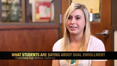 What Students Are Saying About Dual Enrollment